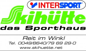 Skihütte Logo mit